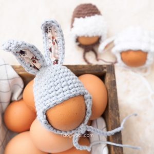 easter egg bunny hat in basket