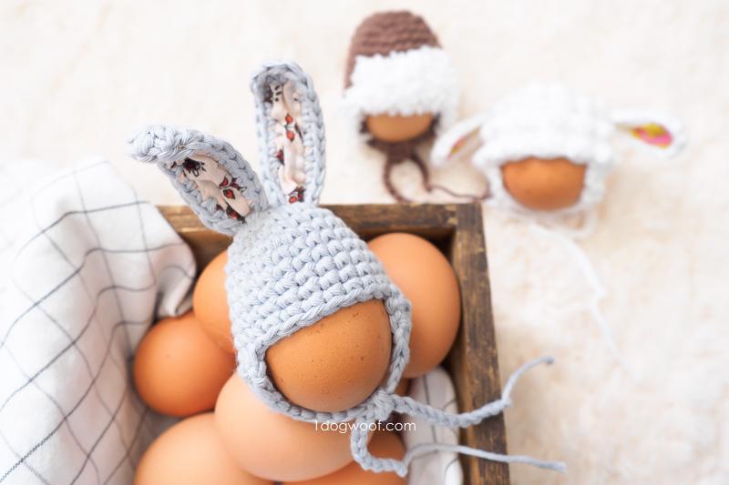 easter egg bunny hat in basket