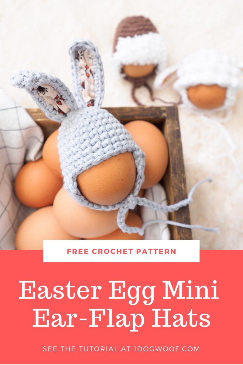 Easter egg bunny hat crochet pattern pin