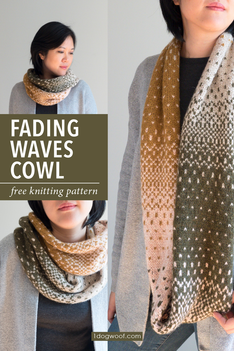 Fading Waves Cowl vertical image collage