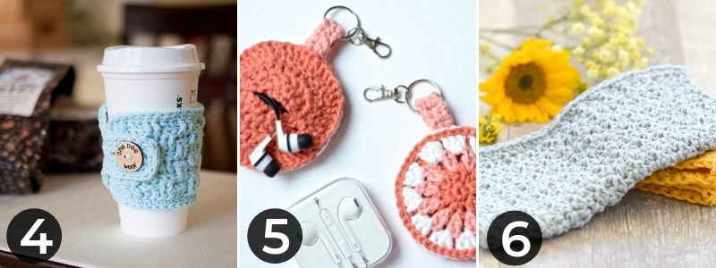 mug cozy ear bud holder and washcloths for mothers day