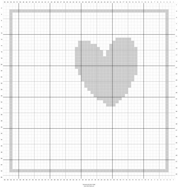 Snowcone Heart motif