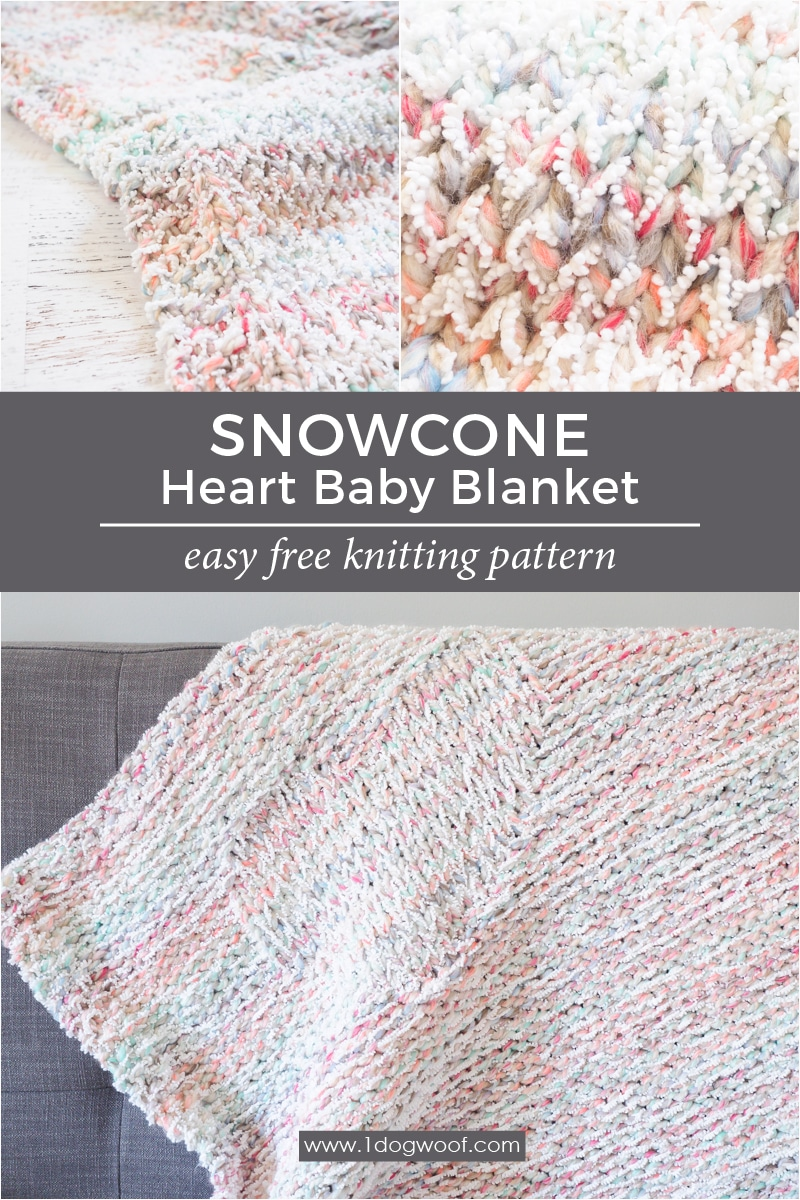 photograph relating to Free Printable Knitting Patterns for Baby Blankets identified as Snowcone Centre Blanket No cost Knitting Behavior - 1 Puppy Woof
