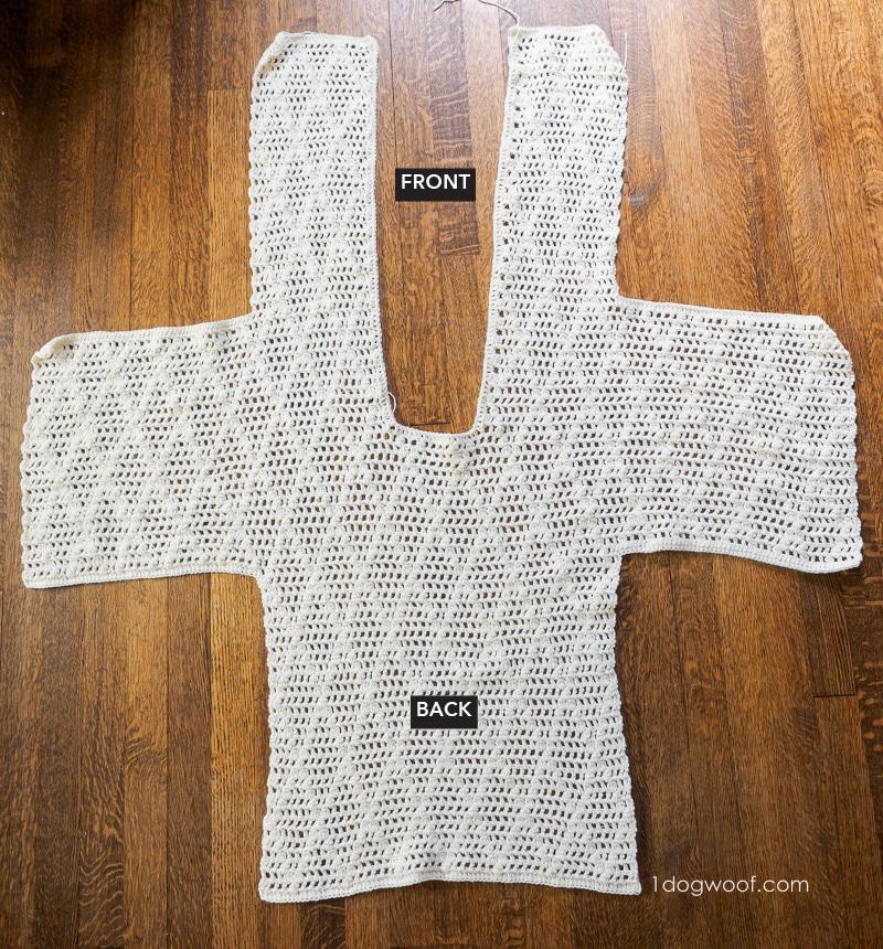 diamond clusters cardigan laid flat unseamed