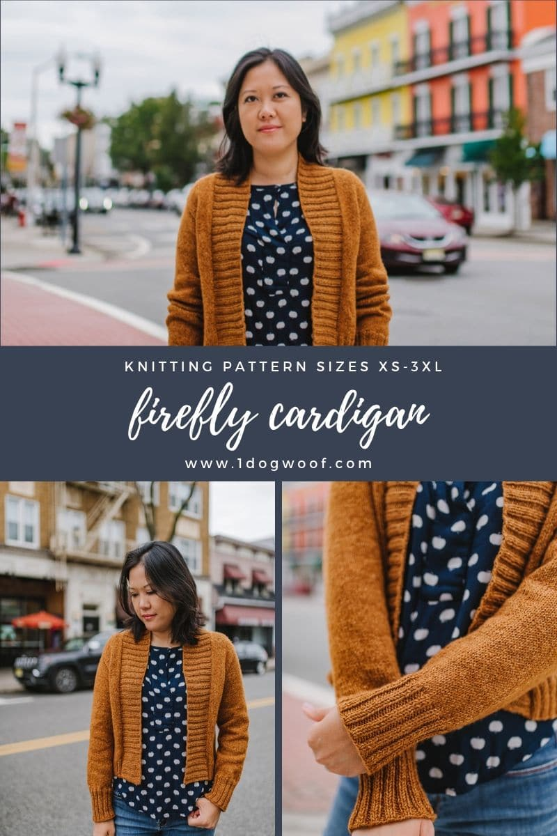 Firefly Cardigan with blue dots