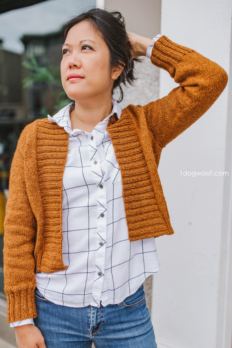 Firefly Cardigan with white shirt