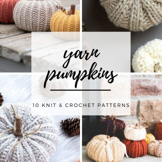 knit and crochet pumpkin patterns collection