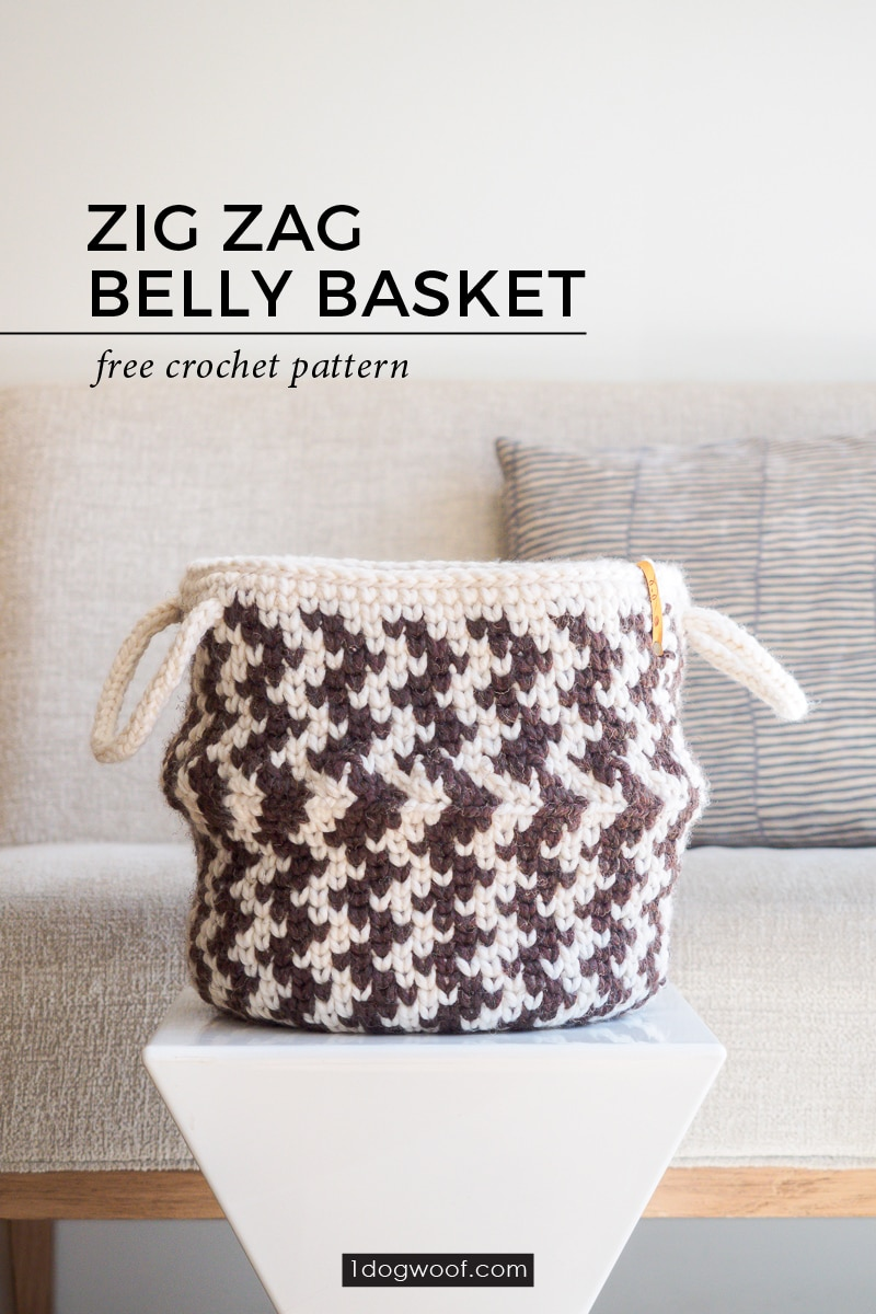 main striped belly basket vertical