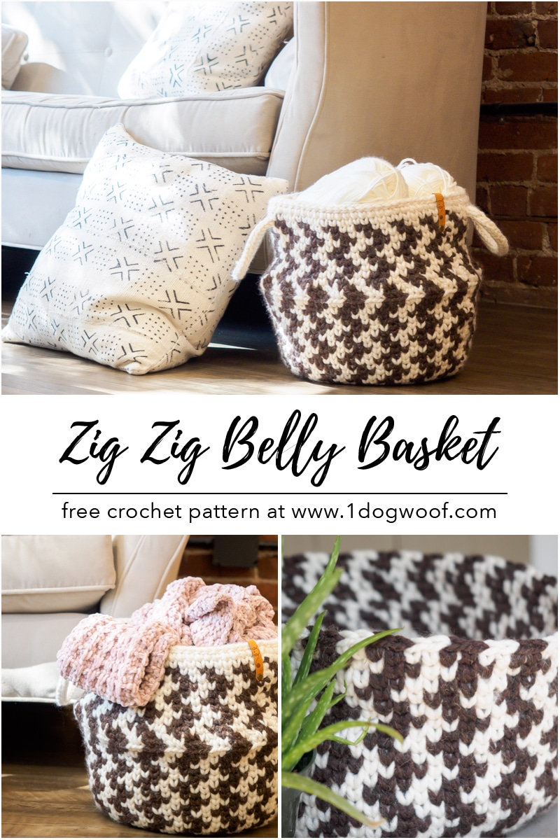 Zig Zag Belly Basket vertical