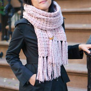 snowbird waffle scarf
