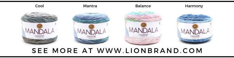 lion brand mandala ombre colors