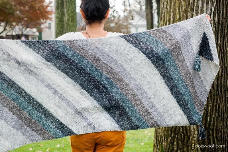 full width of strata bias knit wrap