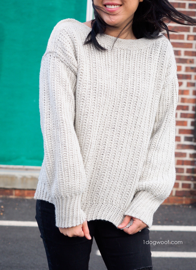 Ribbed crochet sweater