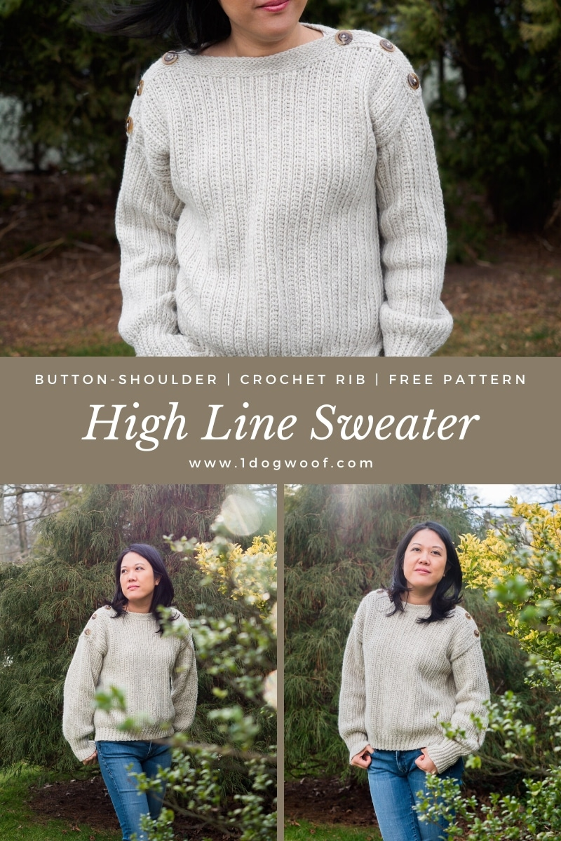 high line sweater button top vertical collage