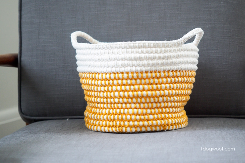 Tension of piping filler cord dictates shape of basket