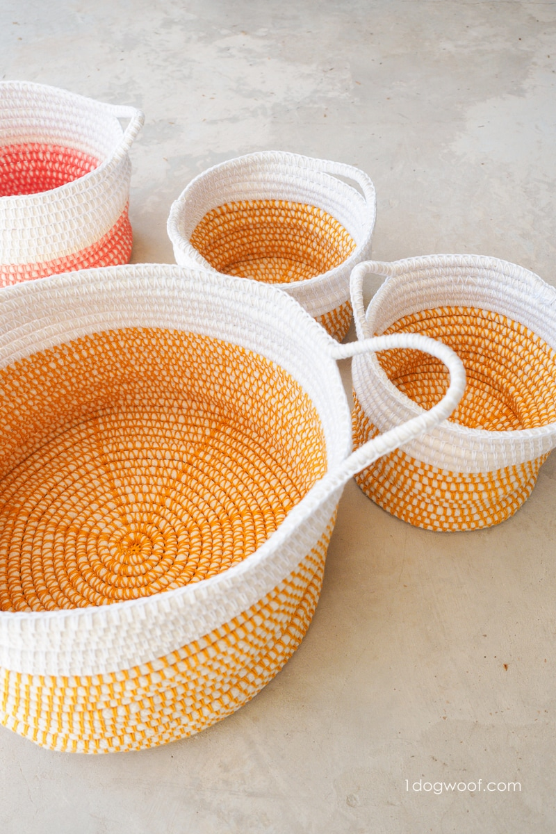 Colorful DIY baskets