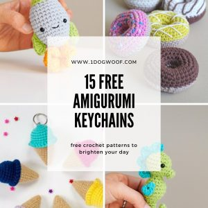 15 Free Must-Make Amigurumi Keychains for Bags, Purses, and Keys