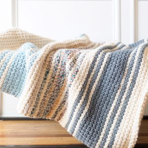 Daydream: a Simple Striped Tunisian Crochet Blanket