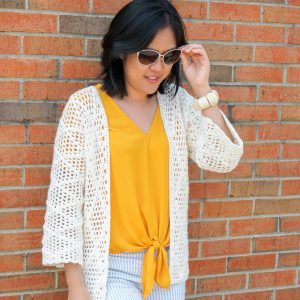 Diamond Clusters Crochet Cardigan