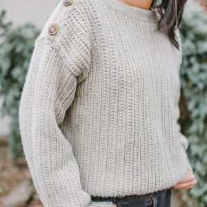 The High Line: A Button-Shoulder Crochet Sweater