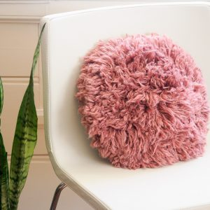 Isla Shag Crochet Pillow: DIY Home Accent