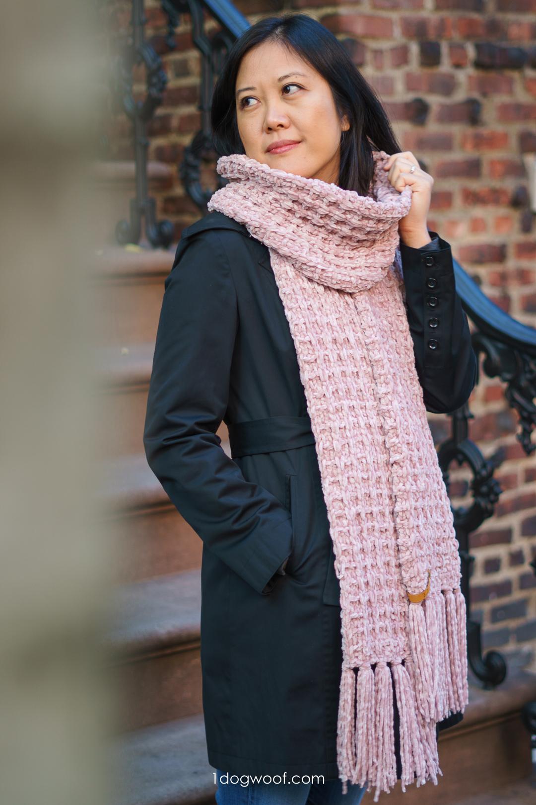 Snowbird Waffle-Knit Scarf: Free Knitting Pattern