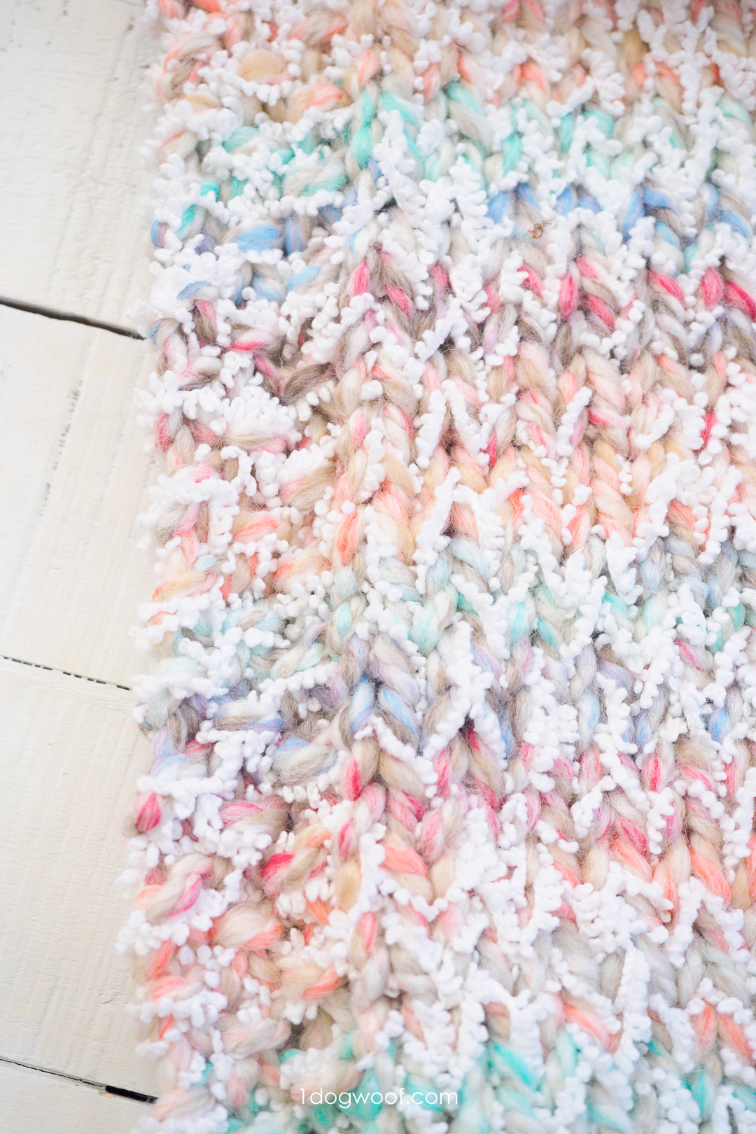 Snowcone Heart Blanket Free Knitting Pattern