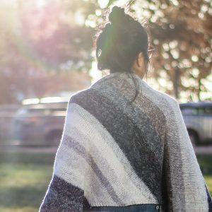 The Strata Bias Knit Wrap: Cool as a Rock