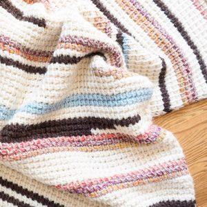 Sunset Stripes: Free Tunisian Crochet Blanket Pattern Part 2