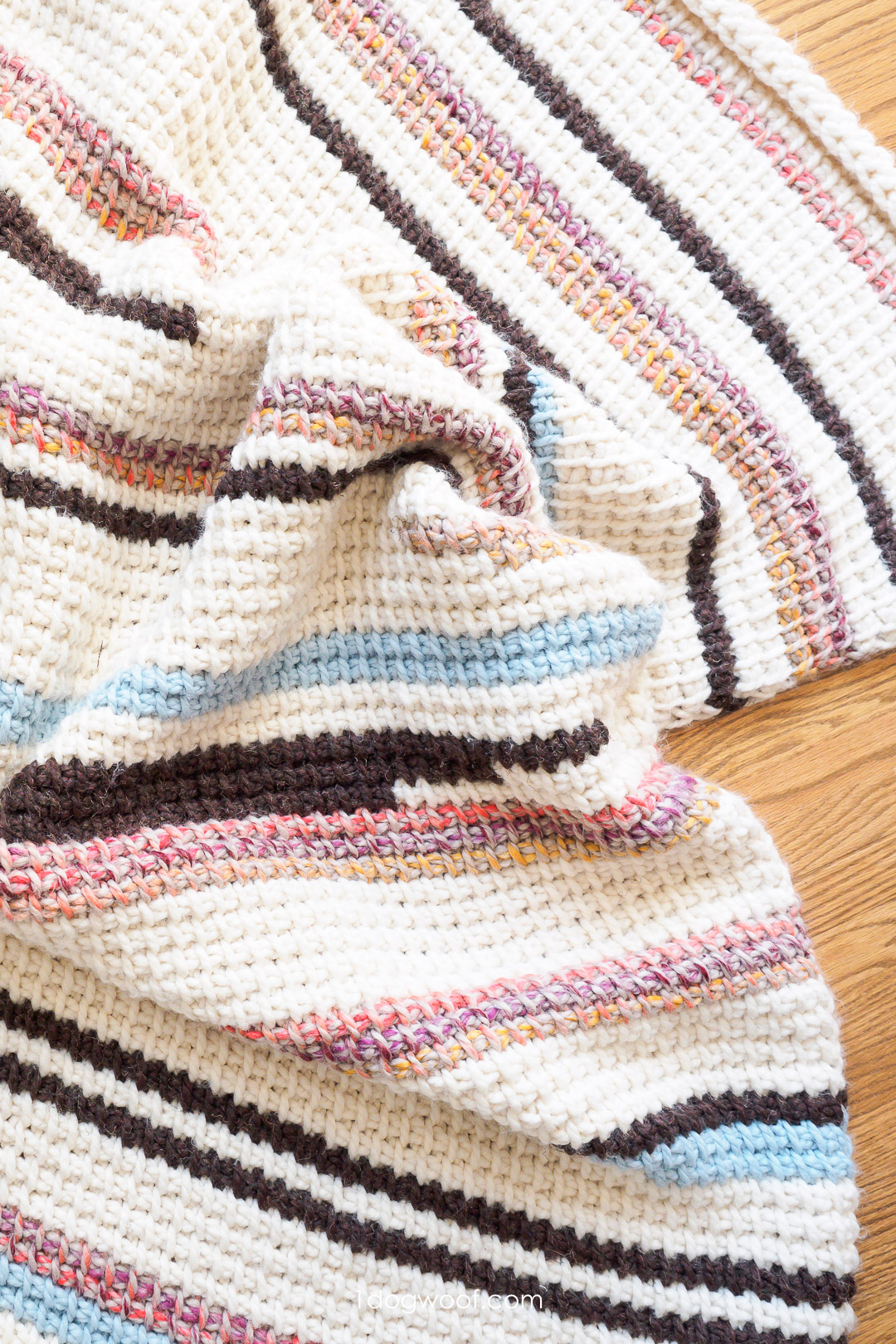 Sunset Stripes: Free Tunisian Crochet Blanket Pattern Part 2