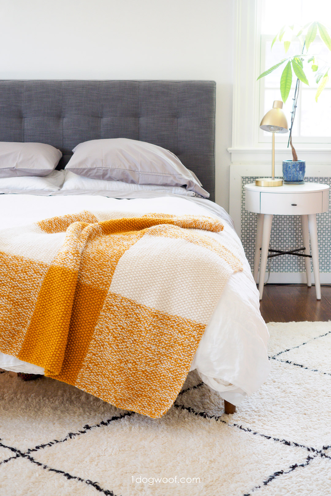 Terra Blanket: A Modern Buffalo Plaid Knitted Blanket