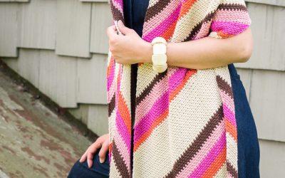 Throwback Wrap: A Colorful Beginner Friendly Crochet Shawl