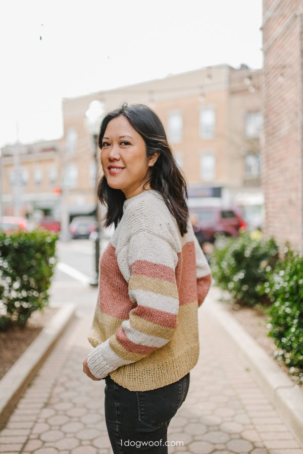 color block knit sweater pattern