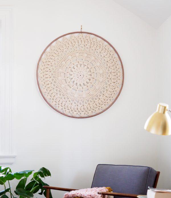 bloom crochet mandala wall hanging