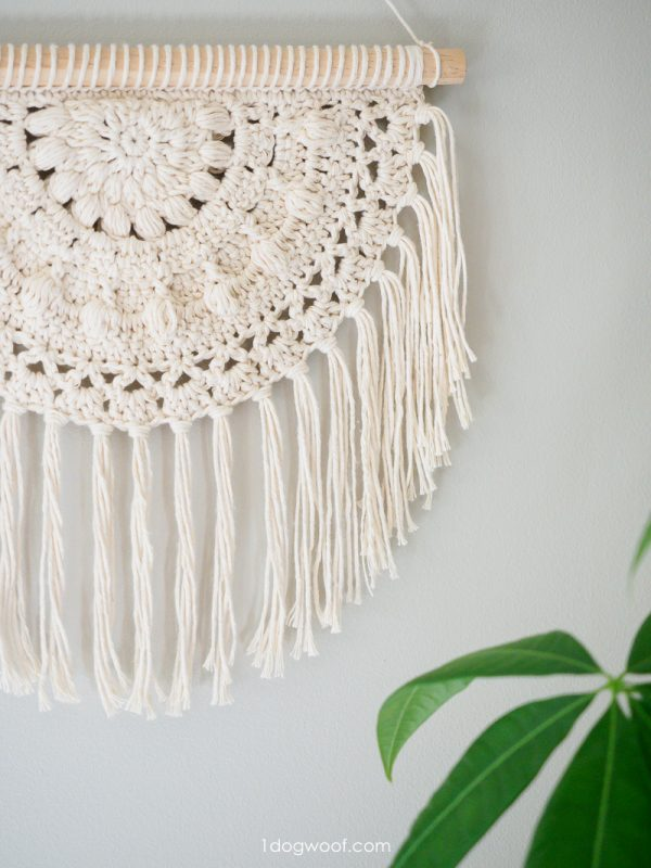 rope crochet wall hanging