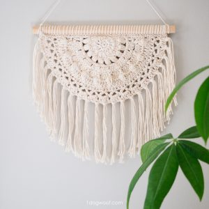 blossom wall hanging crochet pattern