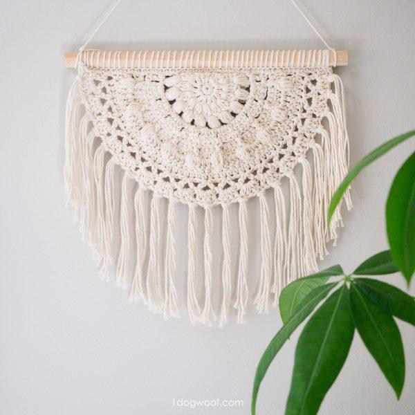 blossom wall hanging crochet pattern