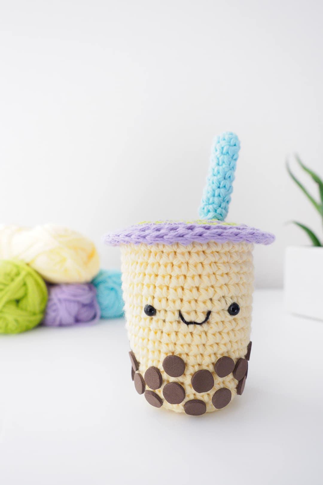 Boba Milk Tea Amigurumi Crochet Pattern