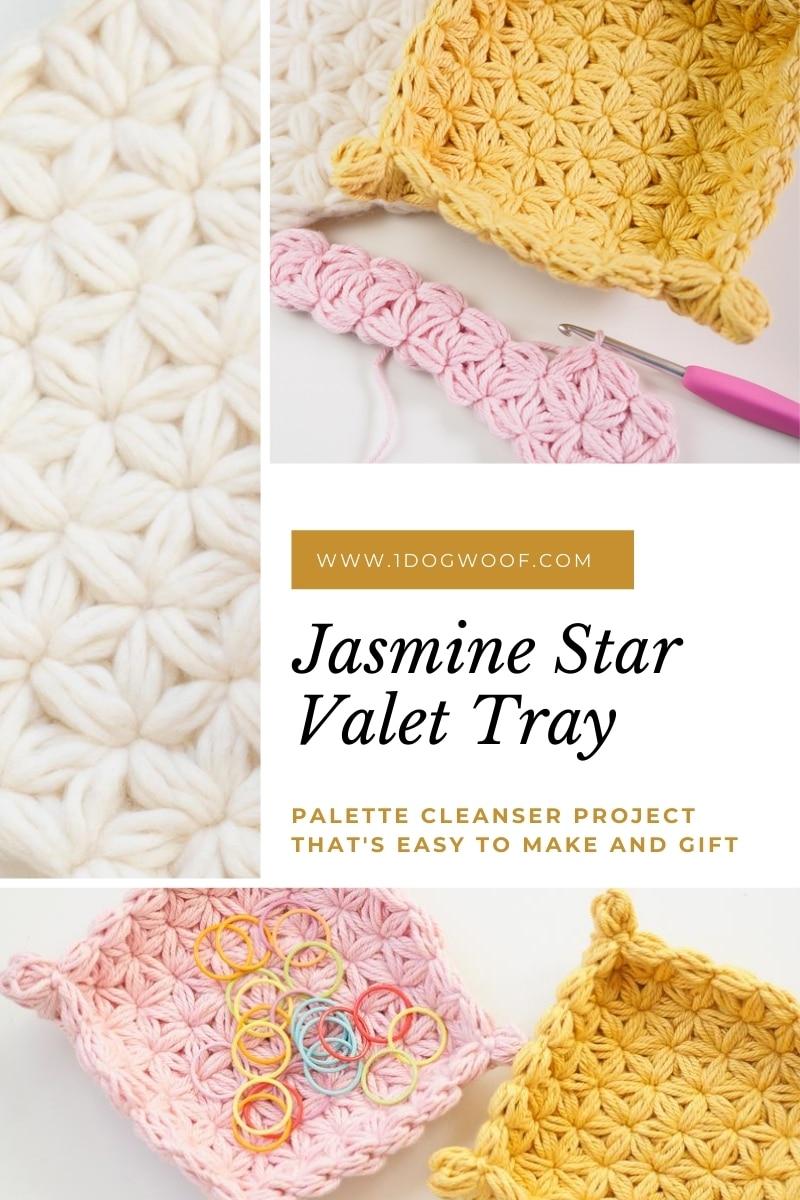 jasmine star stitch jewelry dish collage
