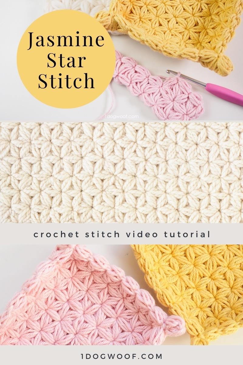 jasmine star stitch vertical collage