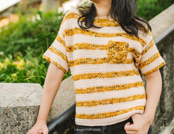 dappled tee pockets crochet pattern