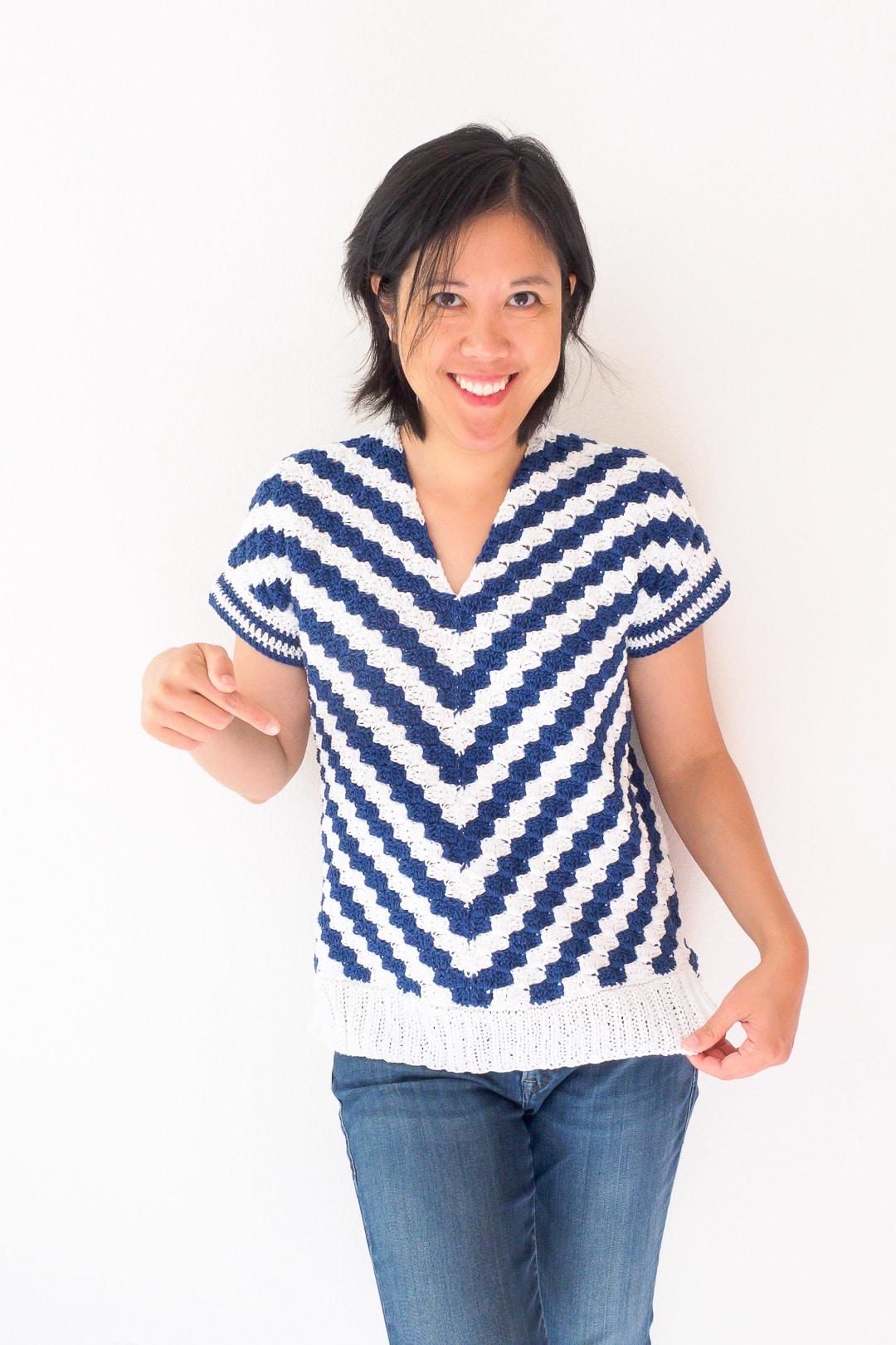 Diagonals for Days C2C Crochet Top