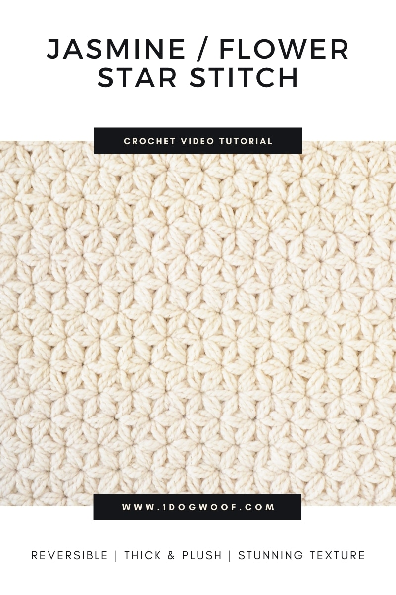 Jasmine Star Stitch Crochet tutorial