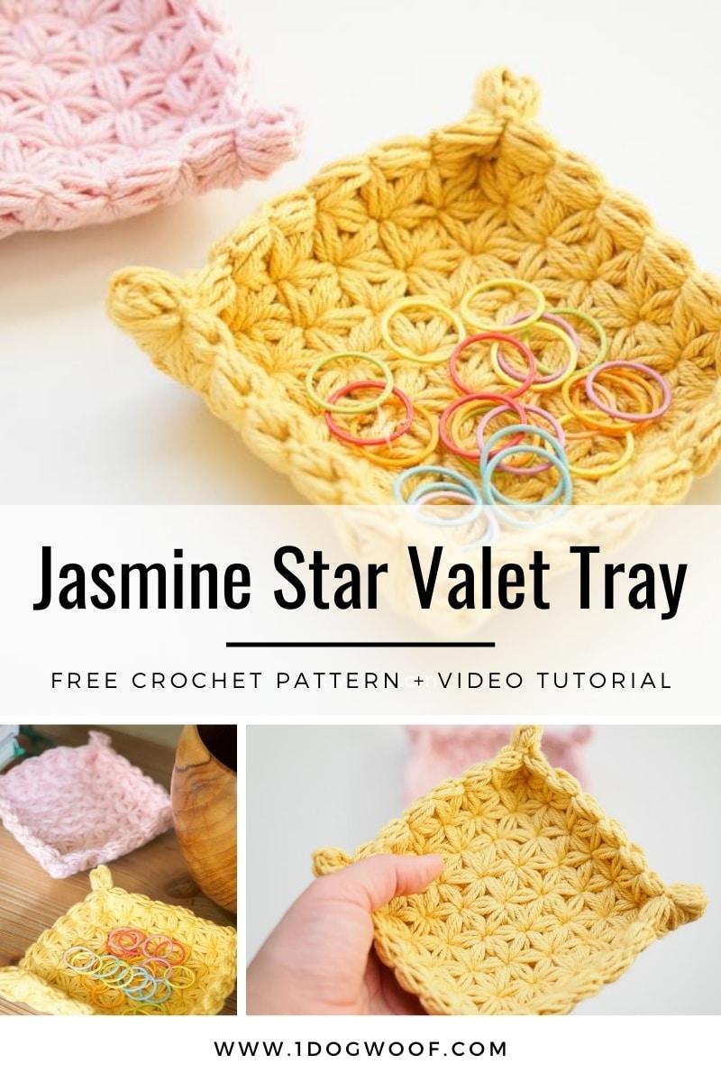 jasmine star stitch valet tray