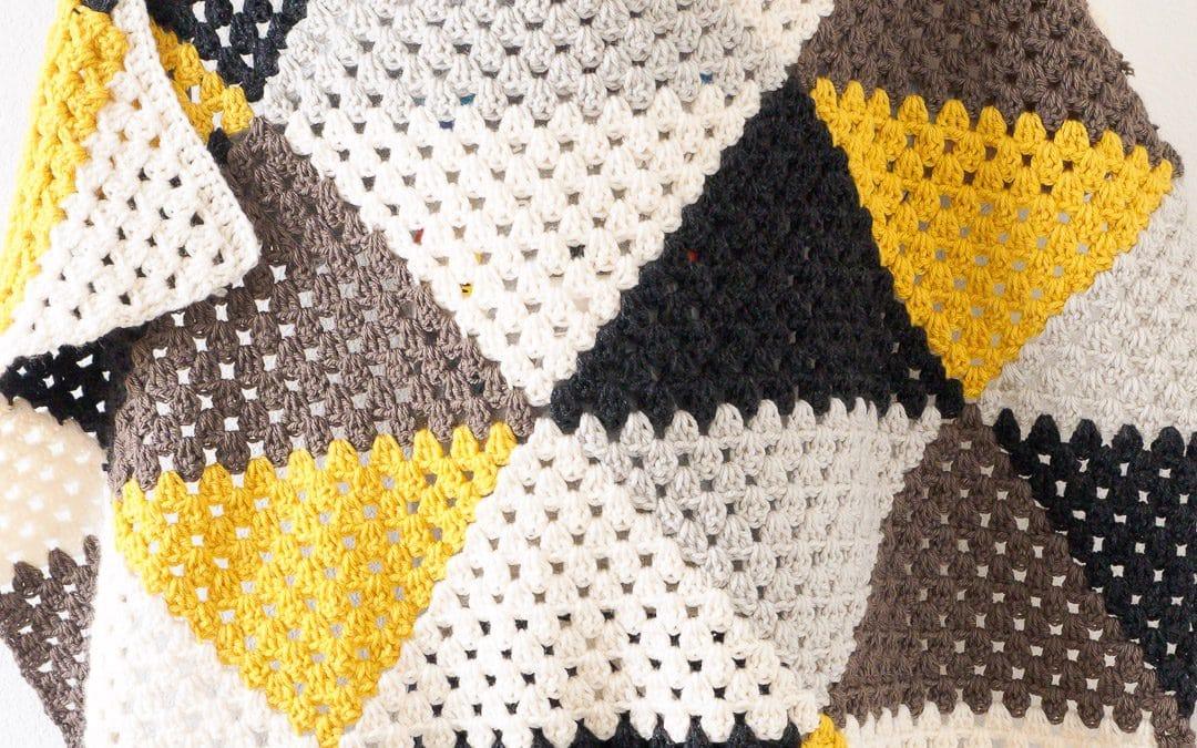 Love Triangles Granny Stripe Baby Blanket