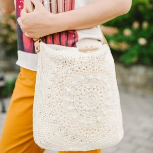 marigold cross body bag crochet pattern