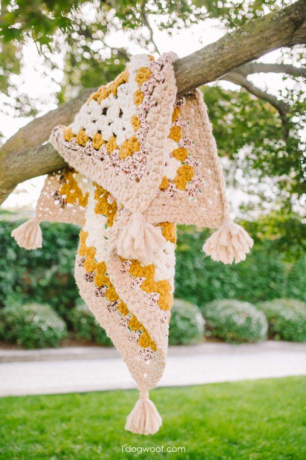 solitude blanket on tree branch