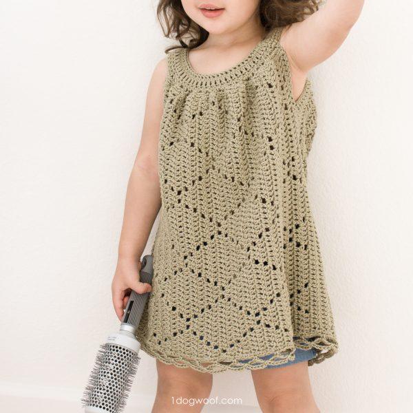summer diamonds crochet toddler dress