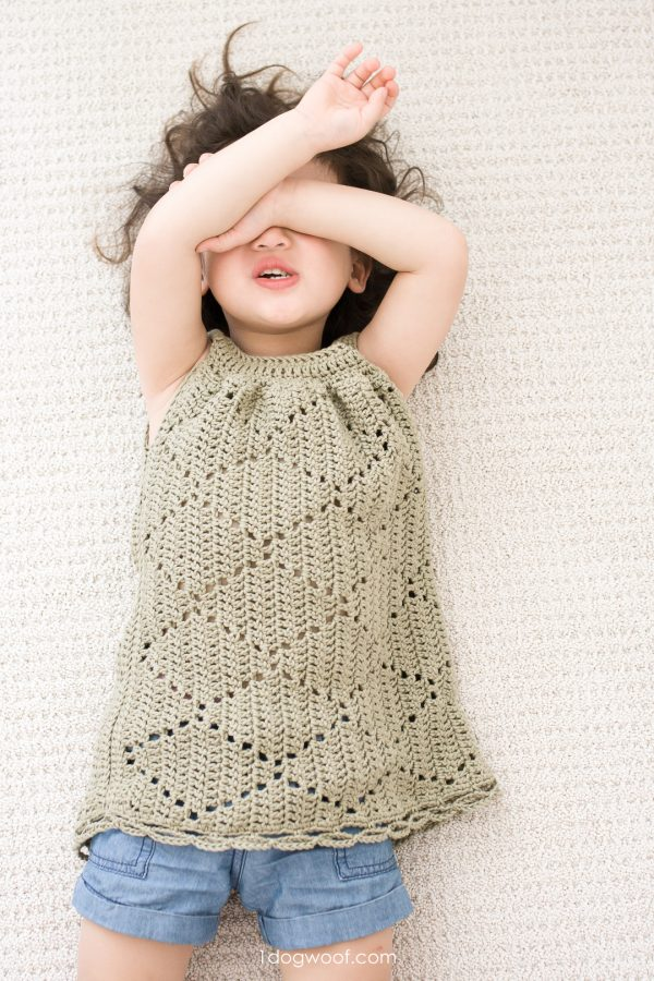playful toddler dress crochet pattern