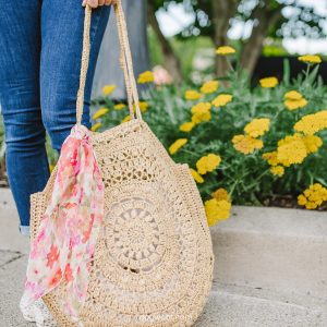 sunburst circle bag crochet pattern
